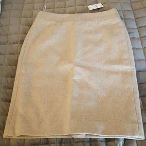 J Crew pencil skirt sz 00 wool flannel